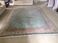 Chinese handmade rug. 3.4m x 2.5m. Beautiful condition