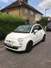 2012 Fiat 500 Lounge, white, manual