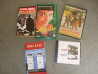 Selection of French language films, books and music
