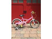 bTwin 16 inch princess bike for girls