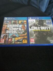 Grand theft auto 5 and Call of duty Infinite Warfare