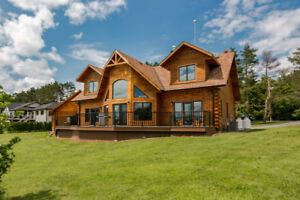 Custom Built Log Home On Beaver Lake