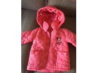 Girls Minnie Mouse coral jacket