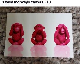 3 Monkeys Wall Art