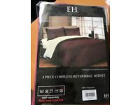 4pc complete reversible double bed set
