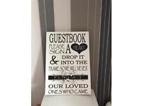 Wedding sign plaque