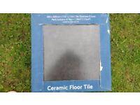 Black/grey ceramic tiles 3 packs of 8 tiles