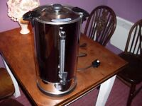 Hot water urn 10 ltr mains electric with manual fill