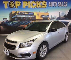 2015 Chevrolet Cruze 6 SPEED MANUAL, LOW MILEAGE, CLEAN CARPROOF