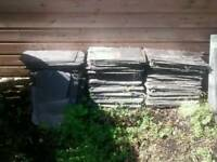 Reclaimed roofing slates, over 100
