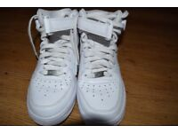 Nike Air Force 1 Mid '07 Hightops (white). UK size 6