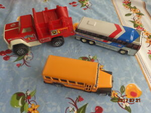 Toy Tonka Truck, Buddy-L School Bus & Greyhound Bus