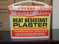 HEAT RESISTANT PLASTER FOR FIREPLACES, WOODBURNERS, STOVES
