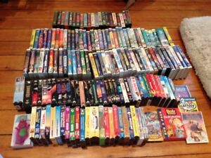 150 VHS MOVIES & 7 DVD'S