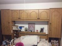 Double bed surround in pine
