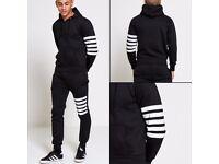 Men's Black Stripe Tracksuit