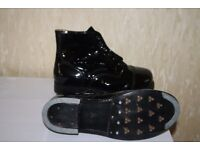 British Military Ammo Patent Leather Squadie Kit/Parade Drill Boots Size 10