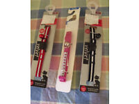cat/ pet collars (3) Black, red and pink - new