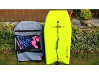 Circle One Fusion 42 Xplosion Bodyboard Boogie board Surfboard with Double Board Bag
