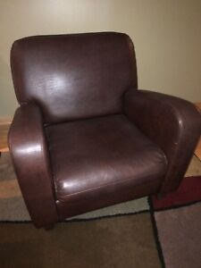 MOVING!! Selling brown leather chair