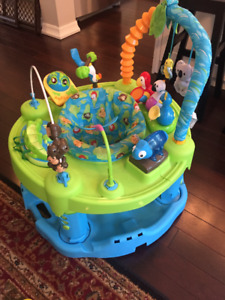"""Gender-neutral """"Life in the Amazon"""" Exersaucer"""