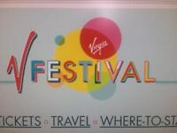 V fest Weekend ticket yellow camping