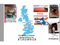 House Removal Van Rental Flat Shifting Self Storage Long Haul Collection & Delivery Man & Van Hire