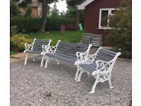 Cast iron chair set