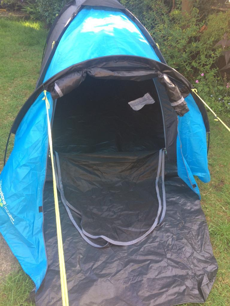 2 man tent- simple to put up- with porch
