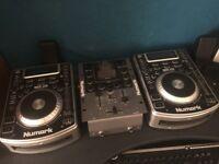 Numark cd decks and mixer
