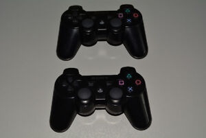 2 Sony Playstation 3 PS3 Wireless Controllers Dualshock 3