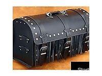 Chopper motorcycle saddlebag ,real black leather, NEW