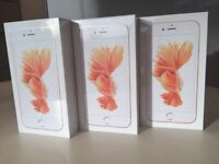 IPHONE 6s 16Gb UNLOCKED ROSE GOLD BRAND NEW BOXED WARRANTY &