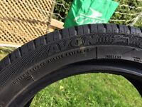 5 tyres part Worn 1 Near New