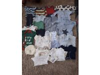 Baby boys clothing bundle 30 piece 0-3 months.