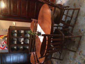 4 Chair Wooden Dining Table