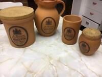 Set of Mr Brannam's Devon Terracotta Kitchenware