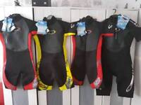 4 wetsuits
