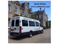 No 1 for service in Edinburgh-Minibus Hire With Driver 8 & 16 Passenger Seats - Spacious Minicoaches