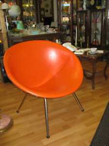 Mid Century Bucket Chair -- FROM PAST TIMES Antiques & Coll