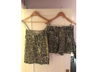 Miss Selfridge top and short set size 12