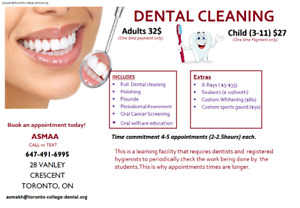 Cheap dental cleaning!! 32$