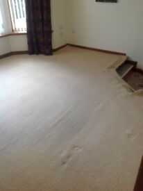 Beige/ cream carpet with underlay