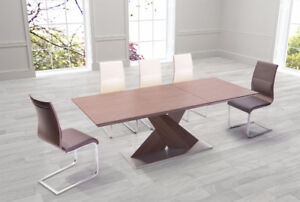 Jaques Extension Table Walnut by Zuo Modern