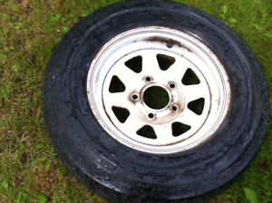 2 , 13 inch trailer tires and rims