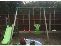 Little Tikes swing, slide and glider