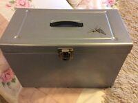 Metal Filing Box with keys