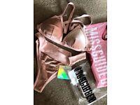 missguided velvet bikini pink