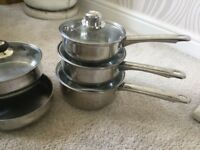Stainless Steel Pans, Frying Pans & Steamer