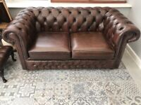 Chesterfield & foot stool